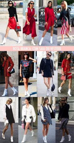 Bota branca: Como usar, onde comprar e Paquitas White Boot: How to Wear, Where to Buy and Paquitas Pretty Outfits, Fall Outfits, Cute Outfits, Fashion Outfits, Fashion Women, Booties Outfit, White Heel Boots, Look Blazer, Moda Paris