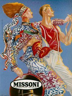 Antonio Lopez - Missoni's Campaign, 1984