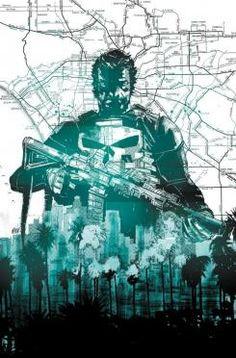 Imagen promocional del relanzamiento de Punisher, en All-New Marvel Now!