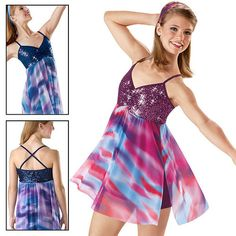 NEW 'Make a Wave' Lyrical, Dance, Ice Skating, Baton Competition Costume Dress