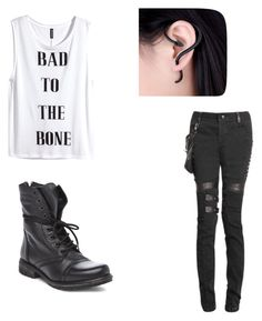 """Untitled #25"" by piper-staunton on Polyvore featuring H&M and Steve Madden"