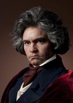 Beethoven wax figure. He had beautiful hair