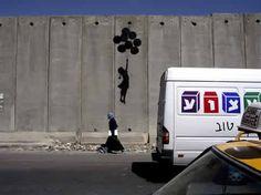 Graffiti de Banksy a Gaza, 2008