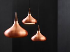 P1 en P2 Orient Pendant by Jo Hammerborg made of copper & rosewood.
