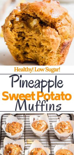 Could You Eat Pizza With Sort Two Diabetic Issues? Made Without Butter, Oil, Or Refined Sugar. Prepare To Fall In Love With Your New Favorite Healthy Muffin Via Abrapappa Healthy Breakfast Muffins, Healthy Muffin Recipes, Healthy Baking, Real Food Recipes, Snack Recipes, Snacks, Pineapple Recipes Healthy, Healthy Meals, Sweet Potato Bread