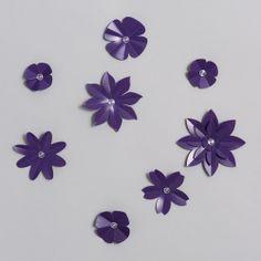 Décor mural, Stickers 3D Nuée de Fleurs violet / design by Emma Roux #StudioEmmaRoux