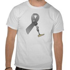 grey ribbon2.png Amputee tee shirt