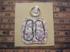 textile shoe key/bag charm by maxollieandme on Etsy, £6.00