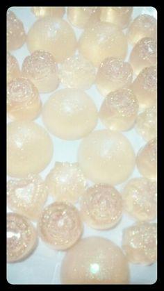 Jaboncitos Cristalinos de Fresa y Miel con glitter para recuerditos...