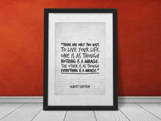 Inspirational Quote There are only two ways by InspirationalQuote