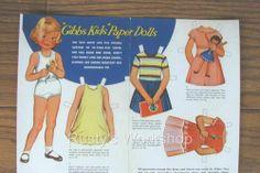 (⑅ ॣ•͈ᴗ•͈ ॣ)♡                                                             ✄1940's 1950's Gibbs Paper Doll Set Repro   eBay