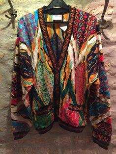 1990' Coogi australian bohochic hand-made knit by nicevintageshop