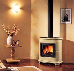 Piazetta's E905 Freestanding, Log burning Fireplace. www.calore.co.za