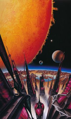 Cover art for F. Pohl 'The World at the End of Time' 1989