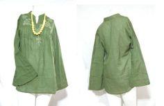 VTG HIPPIE BOHO embroidery FLORAL polkadot BALI Nepal cotton TOP SHIRT blouse Thailand Fashion, Maxi Pants, Thai Style, Beach Dresses, Floral Embroidery, Nepal, Shirt Blouses, Hippie Boho, Bali
