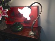 Art Nouveau Desk / Wall Light.French. Bronze. good condition. c890