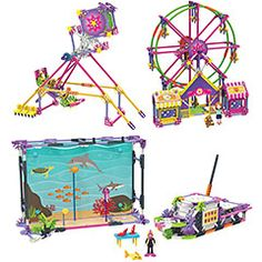 K'NEX Mighty Makers - Fun on Ferris Wheel/Deep Sea Dive Building Sets