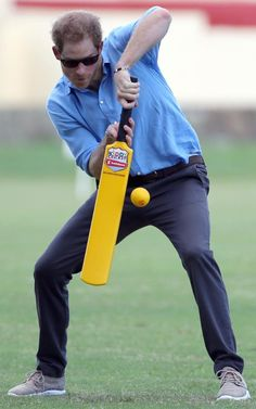 Prince Harry cricket