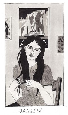 ophelia by Laura Callaghan Illustration, via Flickr