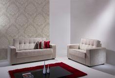 Conjunto de sofás Madri 02 e 03 lugares 144/194 cm Suede Amassado Cru | Bela Arte | Movelaria
