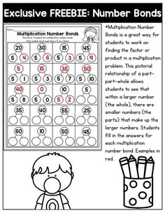 Why can't practicing multiplication facts be fun? practice multiplication number bonds with this exclusive bundle freebie. Multiplication Strategies, Math Fractions, Maths, Multiplication Worksheets, Math Graphic Organizers, Number Bonds, Education Quotes For Teachers, Math Education, Third Grade Math