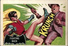 Norm Saunders & Bob Powell - Batman Trading Card Series 1 #30 (Topps 1966)