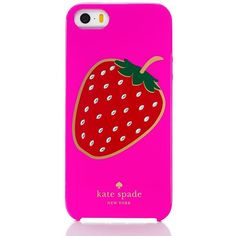 Kate Spade Embellished Berry Iphone 5 Case ($32) ❤ liked on Polyvore featuring accessories, tech accessories, phone cases and kate spade