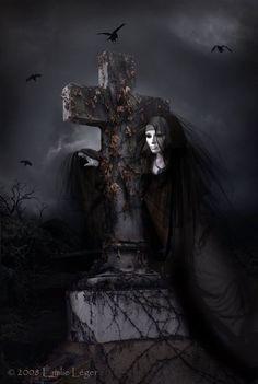 Autumn's Grief by emilieleger on DeviantArt Creepy Horror, Scary, Divas, Gothic Artwork, Dark Art Photography, Mystery, Camera World, World Of Darkness, Goth Art