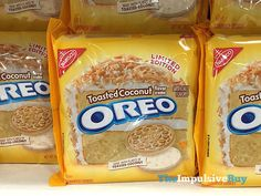 The New Toasted Coconut Oreos Sound So, So Good http://greatideas.people.com/2015/09/17/toasted-coconut-oreo-flavor/
