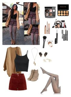 """""""fall November oufit"""" by garaff ❤ liked on Polyvore featuring mode, Wolford, Glamorous, Rebecca Minkoff, Chanel, Laura Geller, MAC Cosmetics, Bobbi Brown Cosmetics, Gucci en Clinique"""