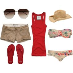 """Beach."" by christinamarie0824 on Polyvore"