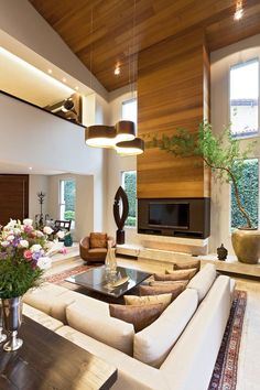 Interior ideas living room - the living room as an eye-catcher .- Einrichtungsideen Wohnzimmer – das Wohnzimmer als Hingucker gestalten Interior ideas living room – design the living room as an eye-catcher - House Design, House Styles, Room Design, House Interior, Home, Interior Architecture Design, Modern House, Great Rooms, Living Room Designs