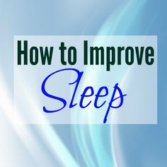 Pinboard Cover on Pinterest - How to Improve Sleep
