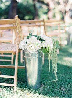 tall tin bucket aisle markers | Landon Jacob #wedding
