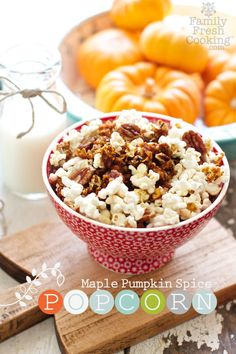 Maple Pumpkin Spice Popcorn from @MarlaMeridith is the best of fall!