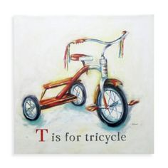 T is for Tricycle Wall Art - BedBathandBeyond.com