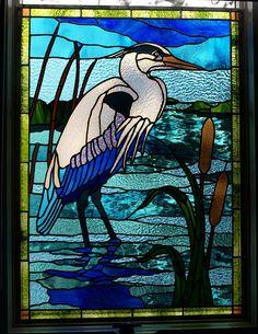Blue Heron Window