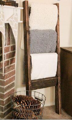 Blanket Ladder by WestonCoHomeDecor on Etsy