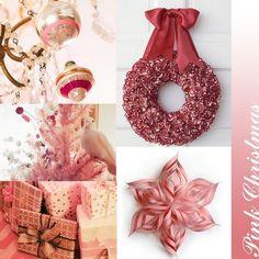 rosa Weihnachtskranz-Papiersterne selber basteln