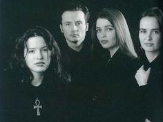 The Corrs (L-R: Andrea, Jim, Caroline and Sharon), ca.1995.