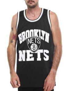 Brooklyn Nets NBA Drop Step Mesh Tank Top by Mitchell & Ness @ DrJays.com