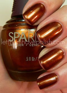 SpaRitual Running with Wolves (bronze nail polish) Fall Nail Colors, Nail Polish Colors, Nail Polish Designs, Nail Art Designs, Sparitual Nail Polish, Gel Polish, Bronze Nails, Copper Nails, Colorful Nail Designs