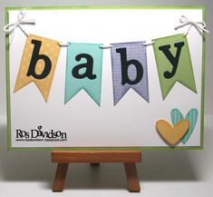 simple and cute baby card but use more appealing colors