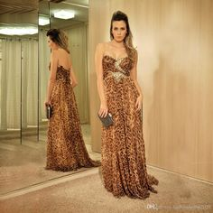 Sparkly Leopard Long Prom Dresses 2017 Sweetheart Beaded Crystal Formal Prom Gowns Women Cheap Pageant Dress Custom Made Prom Dresses Long Prom Dresses Leopard Prom Dresses Online with 136.0/Piece on Fashionhouse2020's Store | DHgate.com