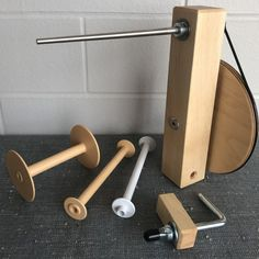 Handcrafted Maple Weavers' Shuttle Bobbin Winder (for use with bobbins, weaving loom and boat shuttle). Watch our demonstration video! - Famous Last Words Glass Barn Doors, Glass French Doors, Leather Carving, Mandala Art, Walnut Hardwood Flooring, Flooring For Stairs, Brass Kitchen, Artist Supplies, Sand Casting