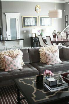 Love the gray and gold mix (via @jennykomenda). @ Adorable Decor : Beautiful Decorating Ideas!Adorable Decor : Beautiful Decorating Ideas!