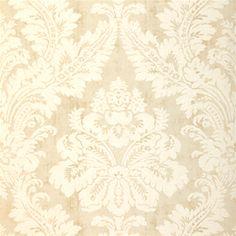 Thibaut Texture Resource Volume 3 - Argentina Damask - Wallpaper - Pearl