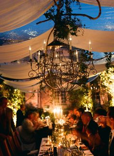 French garden outdoor wedding reception
