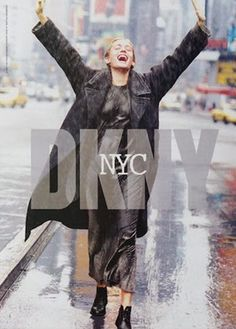 Beri Smither by Peter Lindbergh for DKNY (early 1990s)