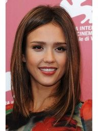 """Jessica Alba, """"why can't my hair look like this. Good Hair Day, Great Hair, Medium Hair Styles, Short Hair Styles, Corte Y Color, Hair Color And Cut, Hair Colour, Oval Faces, Looks Chic"""